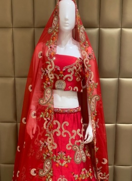 Absorbing Raw Silk Lehenga Choli