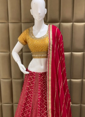 Affluent Ceremonial Dhupion Silk Lehenga Choli
