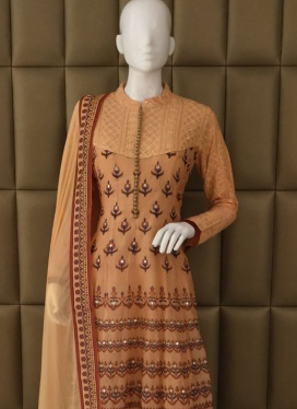Appealing Banarasi Brocade Silk Churidar Suit