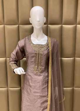 Art Dupion Silk Ceremonial Patiala Suit