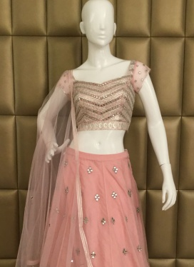 Attractive Ceremonial Soft Net Lehenga Choli