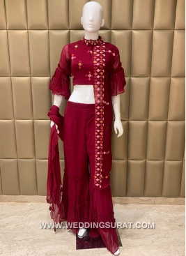 Awesome Sequins Work Trendy Suit For Ceremonial