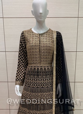 Brazen Lakhnavi Work Floor Length Suit