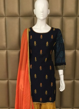Captivate Kasab work Palazzo Suit For Ceremonial