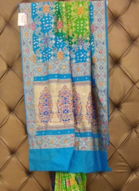 Captivating Chanderi Cotton Bandhej Print Contemporary