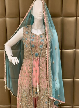 Charming Diamond Work  Palazzo Suit