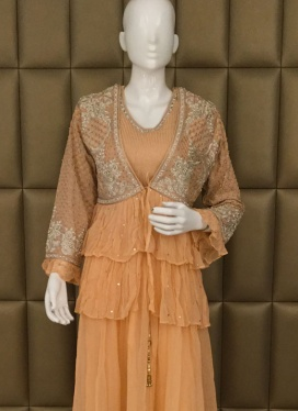 Classy Hand Embroidery Palazzo Suit