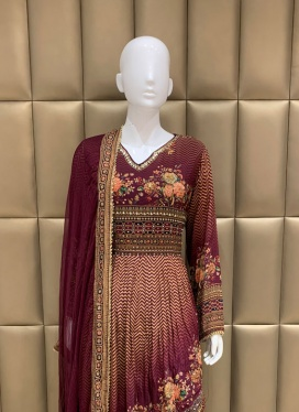 Dazzling Diamond Work Patiala Suit