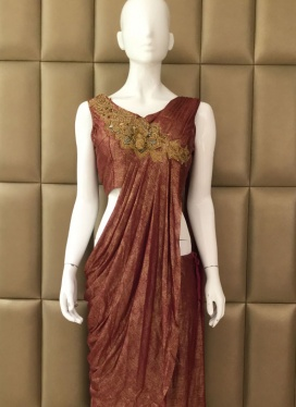 Dignified Lycra Ready Pleated Saree