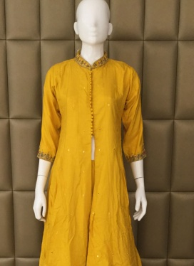 Enthrall Cotton Silk Palazzo Suit