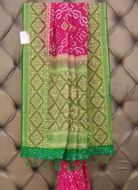 Exciting Chanderi Cotton Bandhej Print Ceremonial Contemporary