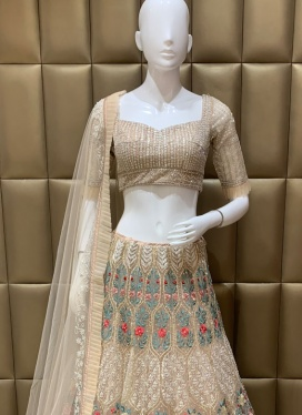Exquisite Diamond Work Soft Net Lehenga Choli
