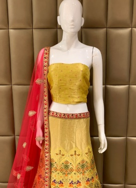 Exquisite Gota Patti Work Banarasi Viscose Lehenga Choli