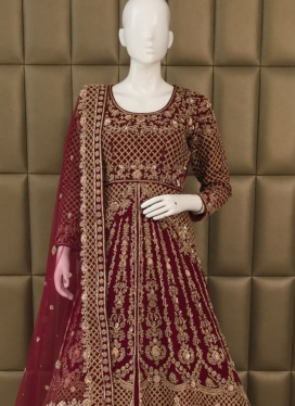 Fashioned Soft Net Cut Dana JACKET STYLE LEHENGA