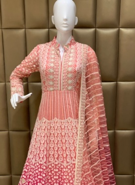 Faux Georgette Kasab work Churidar Suit