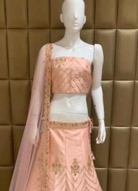 Grandiose Dhupion Silk Gota Patti Work Lehenga Choli