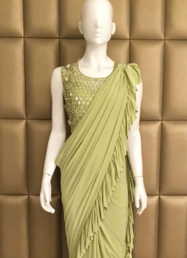 Immaculate Lycra Ceremonial Ready Pleated Saree