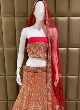 Intriguing Dhupion Silk Cut Dana Lehenga Choli