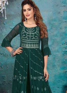 Lovable Gota Patti Work Sharg With Palazzo For Ceremonial