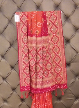Lovely  Bandhej Print Contemporary