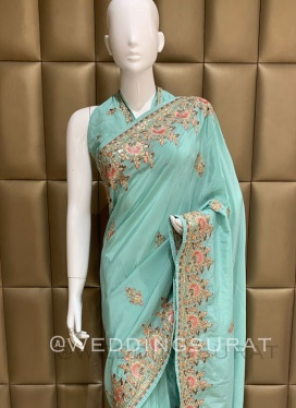 Motivating Crepe Silk Diamond Work Casual Classic Saree