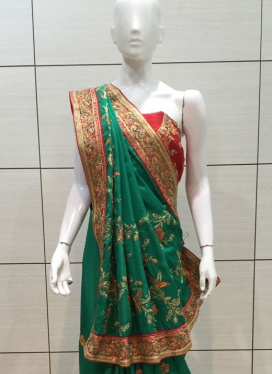 Pleasurable Cut Dana  Designer Saree