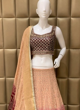 Scintillating Diamond Work Lehenga Choli