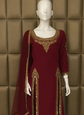Sizzling Cut Dana Pant Style Suit For Ceremonial
