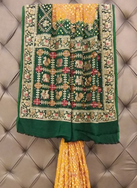 Sophisticated Bandhej Print Ceremonial Contemporary